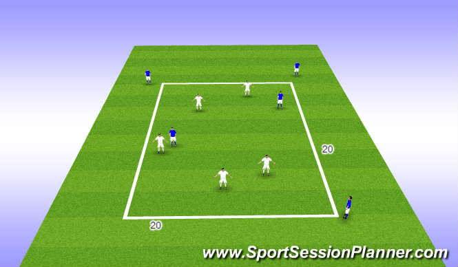 Football/Soccer Session Plan Drill (Colour): TRFC Curriculum Session 9-To improve game awareness