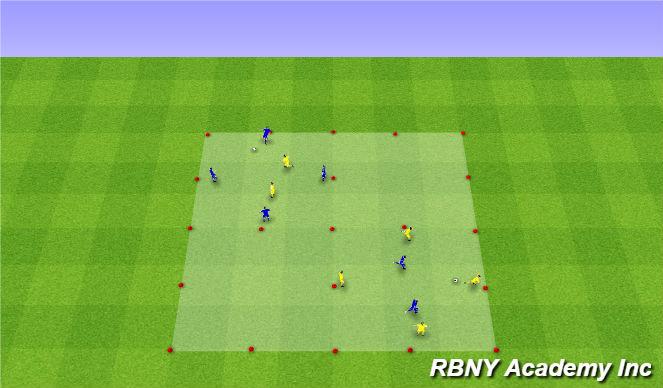 Football/Soccer Session Plan Drill (Colour): Intro - 4v2 Battle