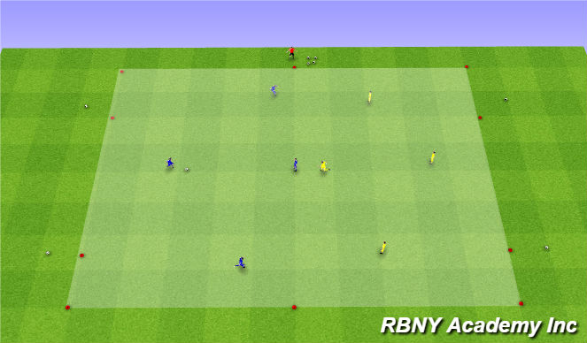 Football/Soccer Session Plan Drill (Colour): Main - 4 Gate Game