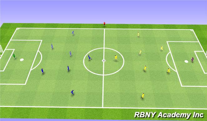 Football/Soccer Session Plan Drill (Colour): Game - 8v8