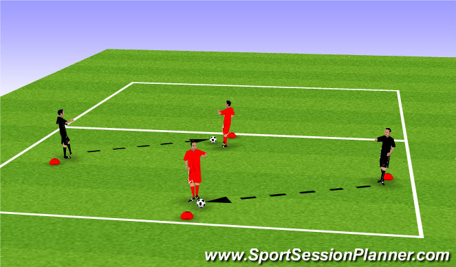 Football/Soccer Session Plan Drill (Colour): P&R 1