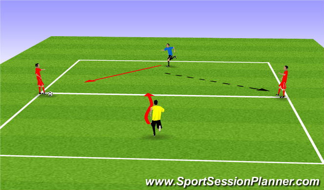 Football/Soccer Session Plan Drill (Colour): P&R 3