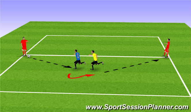 Football/Soccer Session Plan Drill (Colour): P&R 6