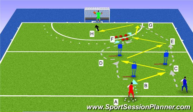 Hockey Session Plan Drill (Colour): Pantalla 2