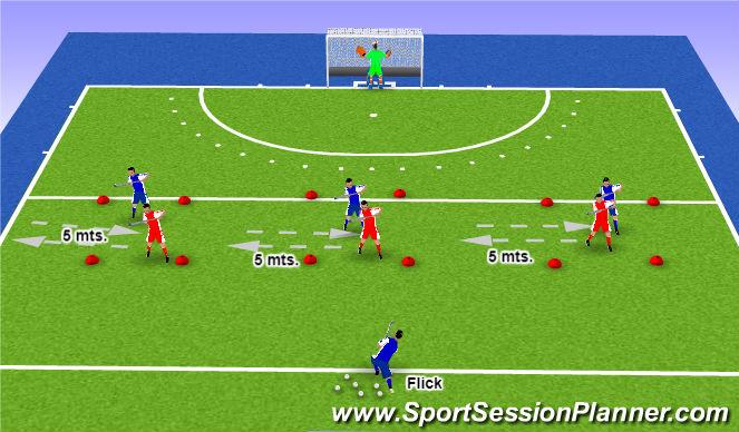 Hockey Session Plan Drill (Colour): Pantalla 3
