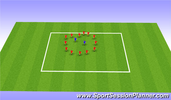 Football/Soccer Session Plan Drill (Colour): Calentamiento + Juego