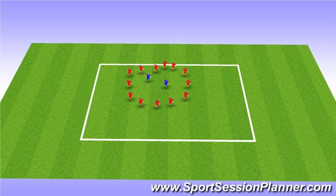 Fútbol Ejercicio del Plan de Sesiones (Color): Calentamiento + Juego