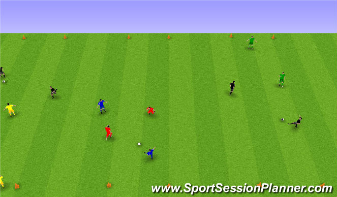 Football/Soccer Session Plan Drill (Colour): 2 á 2.