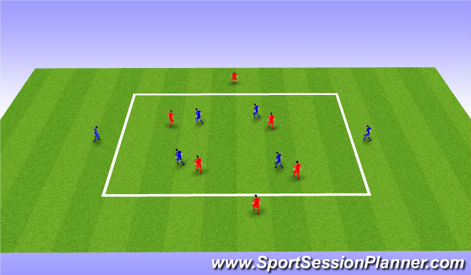 Football/Soccer Session Plan Drill (Colour): Pressing Possession