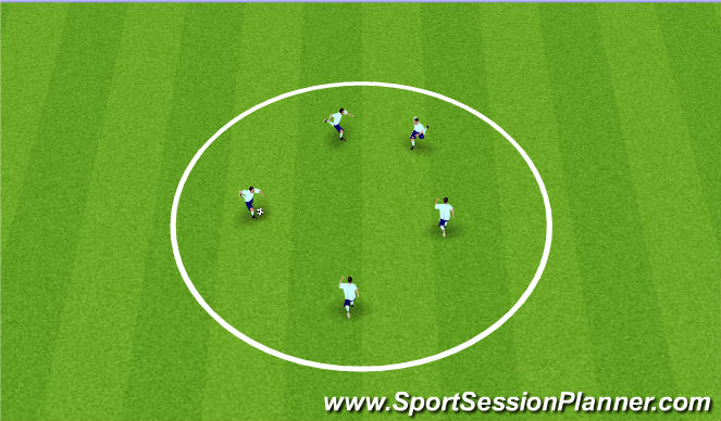 Football/Soccer Session Plan Drill (Colour): Opening Up