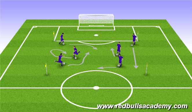 Football/Soccer Session Plan Drill (Colour): Warmup-100 touches
