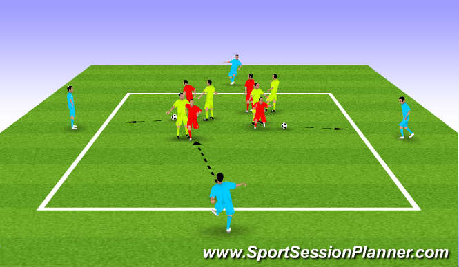 Football/Soccer Session Plan Drill (Colour): Competitive Warmup