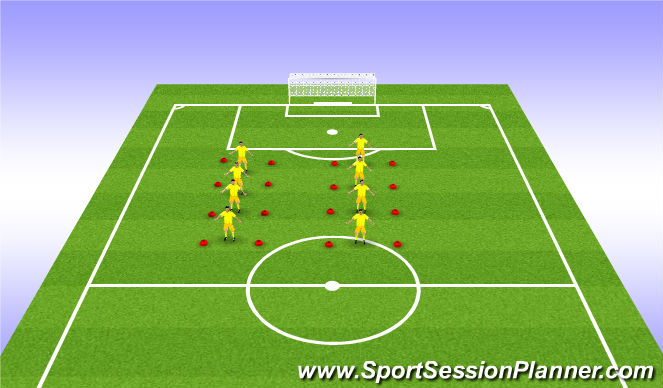 Football/Soccer Session Plan Drill (Colour): Coerver Warmup