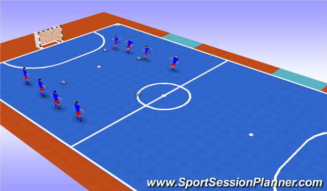 Futsal Session Plan Drill (Colour): Stage 2 - Ballwork