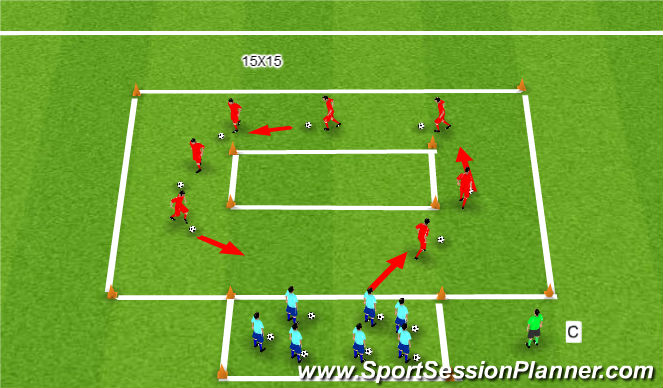 Football/Soccer Session Plan Drill (Colour): Indy 500
