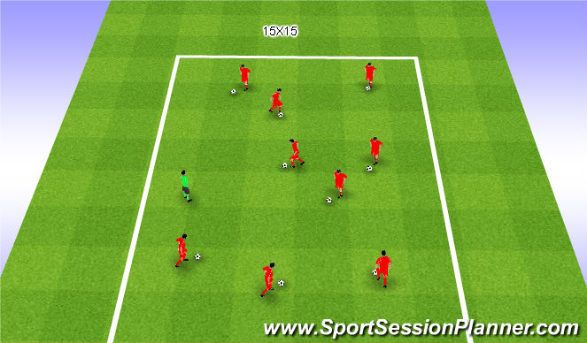Football/Soccer Session Plan Drill (Colour): Redlight/Green light