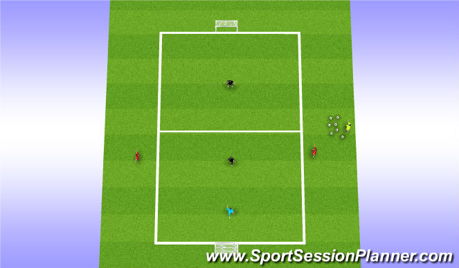 Football/Soccer Session Plan Drill (Colour): Beating multiple defenders