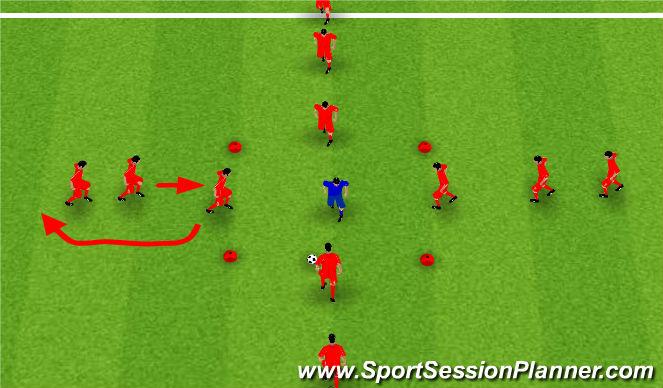 Football/Soccer Session Plan Drill (Colour): Valencia Rondo's