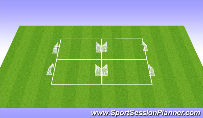 Football/Soccer Session Plan Drill (Colour): Practice Layout