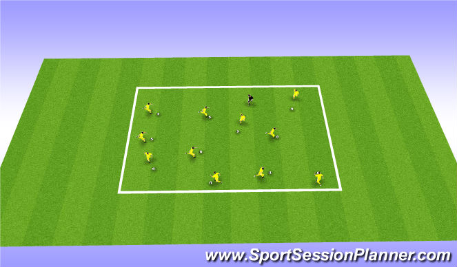 Football/Soccer Session Plan Drill (Colour): Copy the Coach
