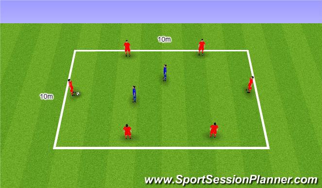 Football/Soccer Session Plan Drill (Colour): Rondo. Dziadek
