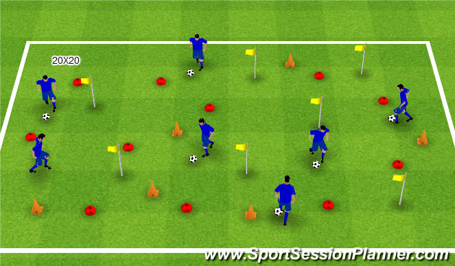 Football/Soccer Session Plan Drill (Colour): Enchanted forest