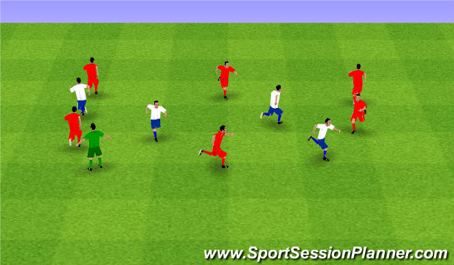 Football/Soccer Session Plan Drill (Colour): Donkey Tails
