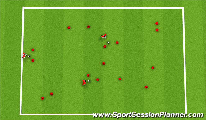 Football/Soccer Session Plan Drill (Colour): Multi goal game