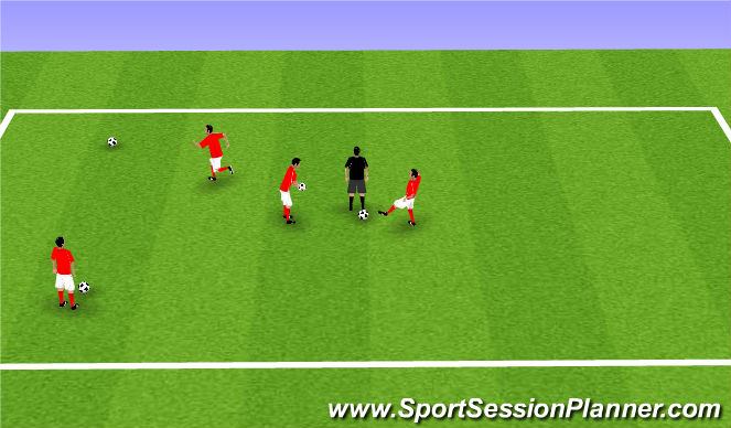 Football/Soccer Session Plan Drill (Colour): Ball Retrive
