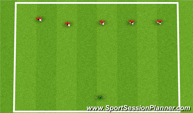 Football/Soccer Session Plan Drill (Colour): What time is it Mr. Wolf?