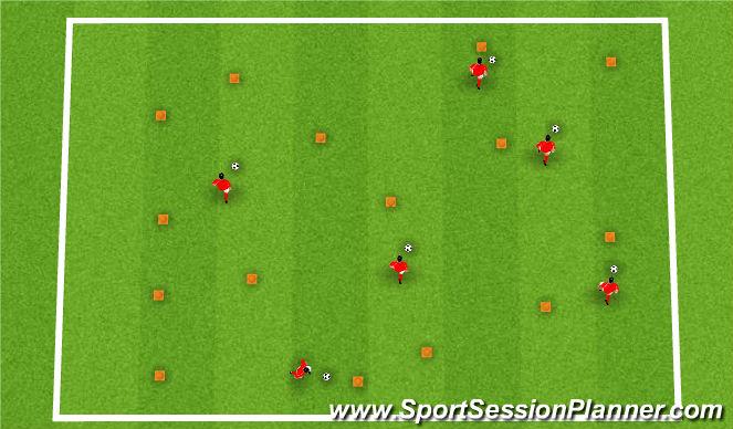 Football/Soccer Session Plan Drill (Colour): Bingo
