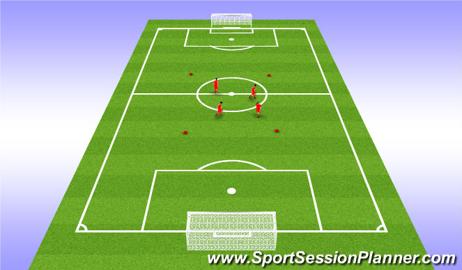 Football/Soccer Session Plan Drill (Colour): House Dribble Warmup