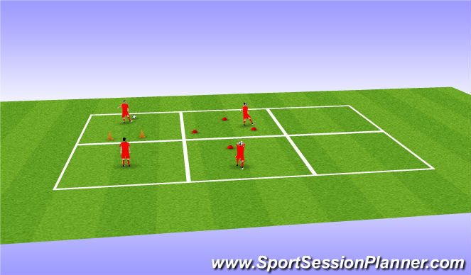 Football/Soccer Session Plan Drill (Colour): Technique: Juggling/Ball-Striking