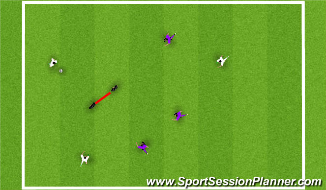 Football/Soccer Session Plan Drill (Colour): Moving Goal Game 1 ball