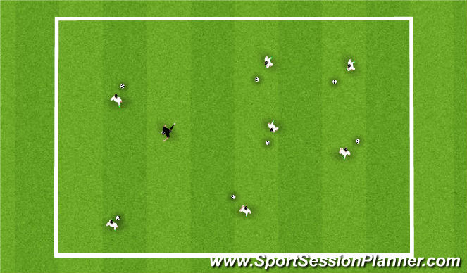 Football/Soccer Session Plan Drill (Colour): Tigers in the Jungle