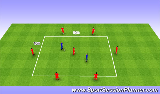 Football/Soccer Session Plan Drill (Colour): Rondo. Dziadek