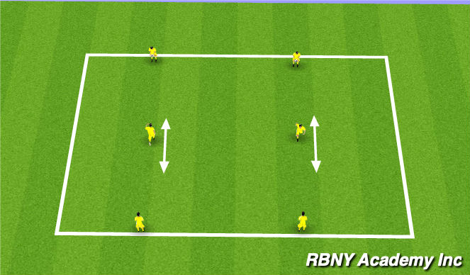 Football/Soccer Session Plan Drill (Colour): 3 player fundamental drill