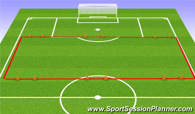 Football/Soccer Session Plan Drill (Colour): Providing Width