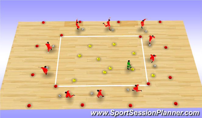 Futsal Session Plan Drill (Colour): Go Karts