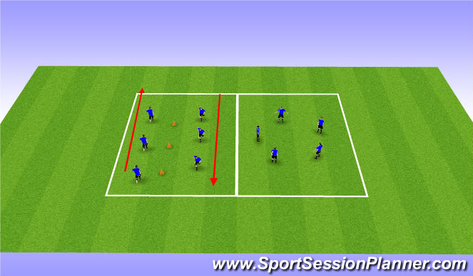 Football/Soccer Session Plan Drill (Colour): Cool Down (2)
