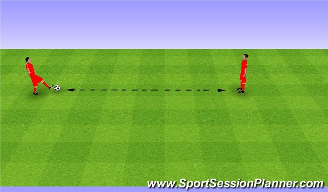 Football/Soccer Session Plan Drill (Colour): Passing drill. Podania.