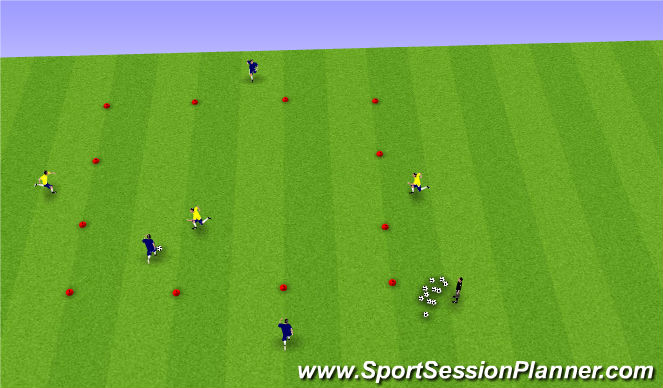 Football/Soccer Session Plan Drill (Colour): Bull in the Ring