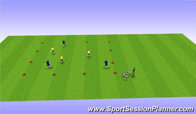 Football/Soccer Session Plan Drill (Colour): Mass pass