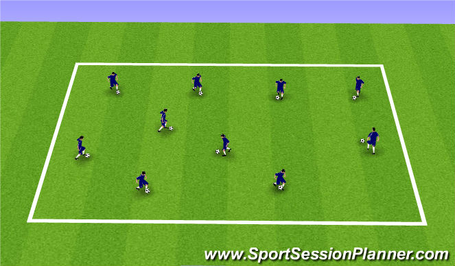 Football/Soccer Session Plan Drill (Colour): Musical Chairs