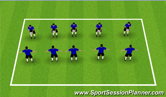 Football/Soccer Session Plan Drill (Colour): Partner Volley