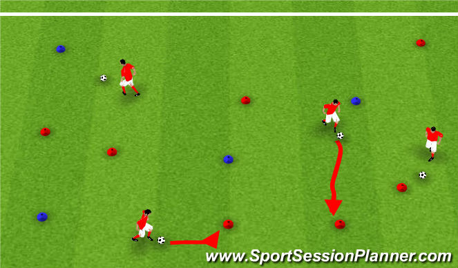 Football/Soccer Session Plan Drill (Colour): Smush the mush