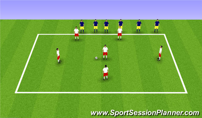 Football/Soccer Session Plan Drill (Colour): team keep away