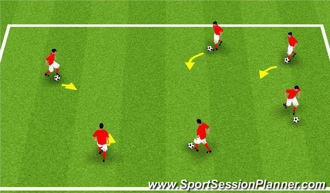 Football/Soccer Session Plan Drill (Colour): Paint the Field