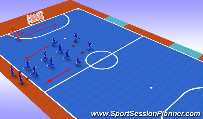 Futsal Session Plan Drill (Colour): Warm up - Physical