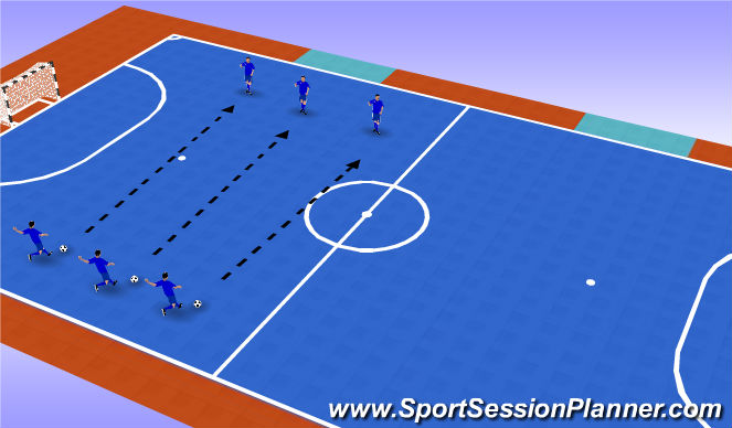 Futsal Session Plan Drill (Colour): Warm up - Technical